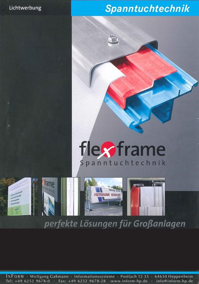 Die Außenschilder mit Spanntuchtechnik haben ein äußerst geringes Eigengewicht. Diese Art der Außenbeschilderung lässt sich nachhaltig und schnell aktualisieren – Rahmen und Oberteilen bleiben dabei sogar erhalten.