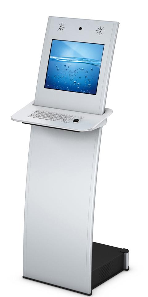 Kiosksysteme und digitale Monitorstelen aus dem System ISIS vereinen Design und Interaktion perfekt.