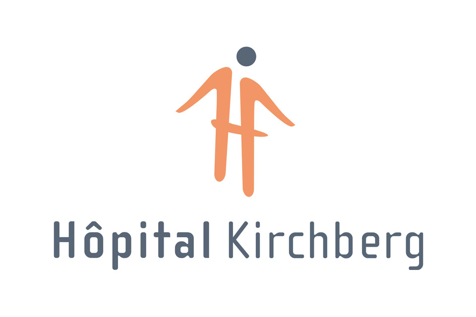 Logo des Hopital Kirchberg in Luxemburg.