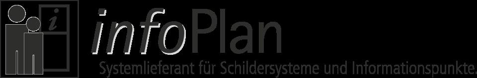 infoPlan ist unsere Marke für die Produktion und Lieferung von innovativen Schildersystemen für den Innen- und Außenbereich sowie von professionellen Vitrinen & Briefkästen. Grafik: InForm, infoPlan: Systemlieferant für Schildersysteme und Informationspunkte