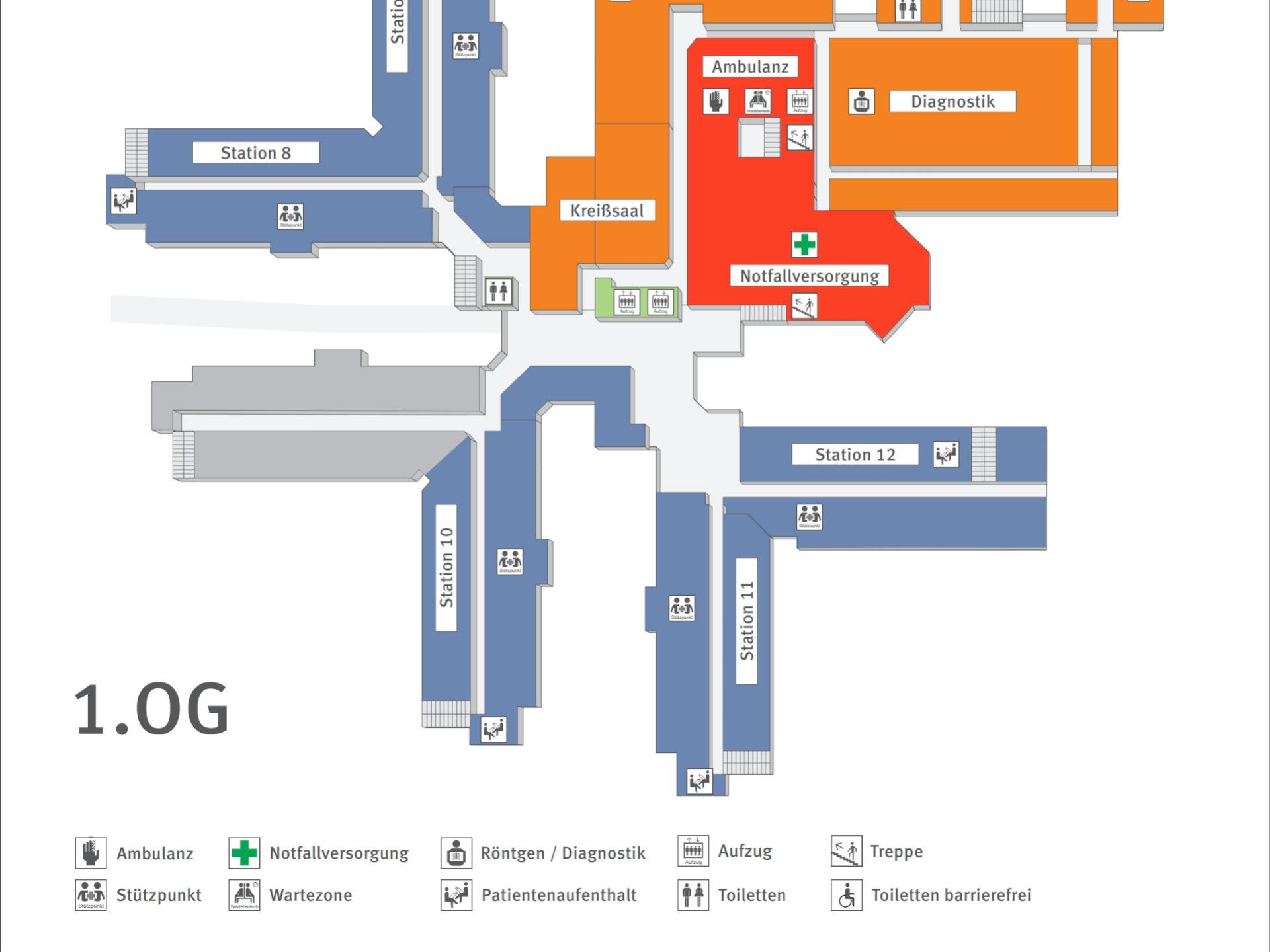 Beispielfoto 03 für die Planung von Wegeleitsystemen im Innen- und Außenbereich sowie in Städten. Foto: InForm, objektPlan: Planungsbüro für Verkehrsleitsysteme und Wegeleitsysteme.