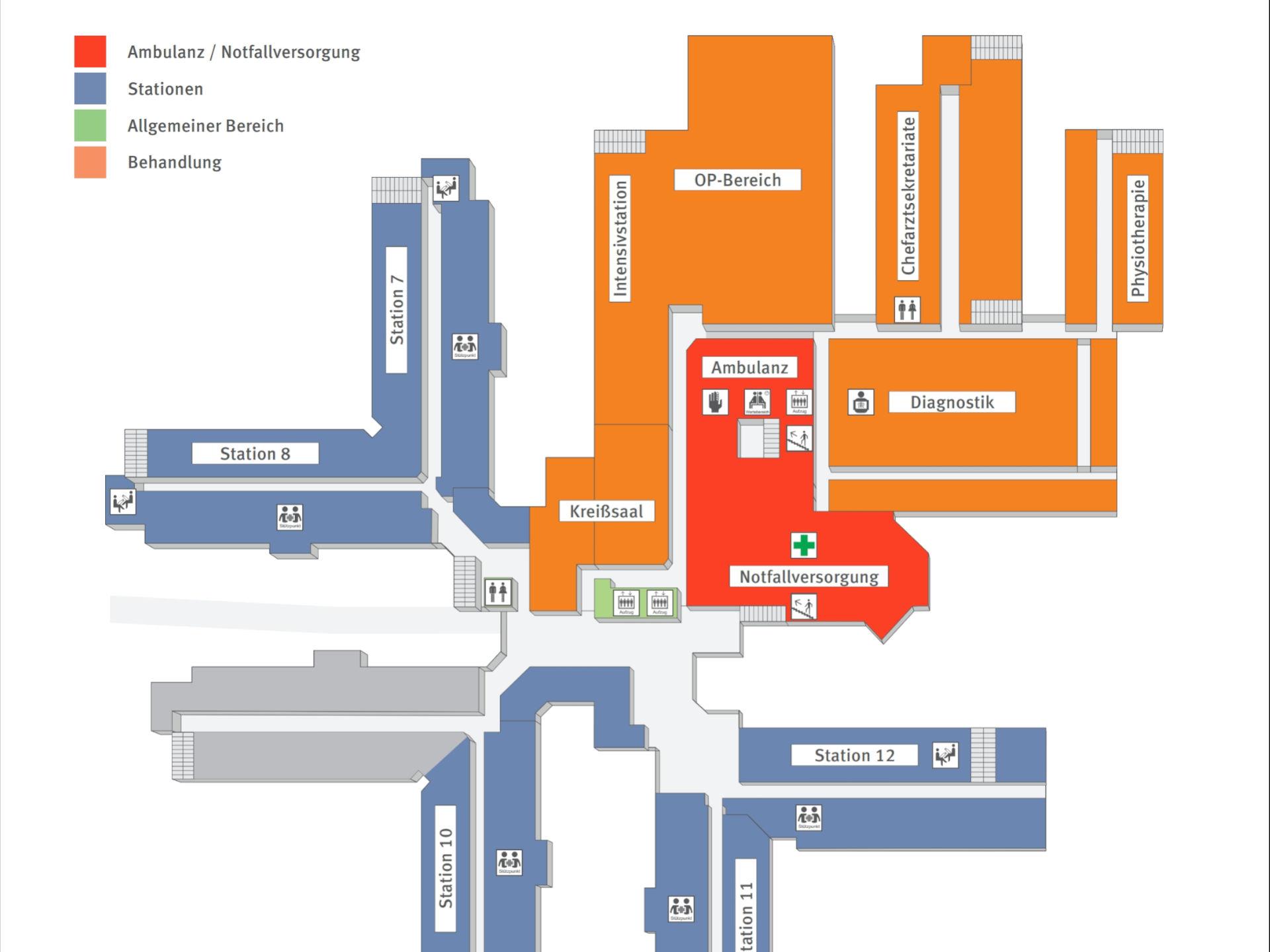 Beispielfoto 04 für die Planung von Wegeleitsystemen im Innen- und Außenbereich sowie in Städten. Foto: InForm, objektPlan: Planungsbüro für Verkehrsleitsysteme und Wegeleitsysteme.