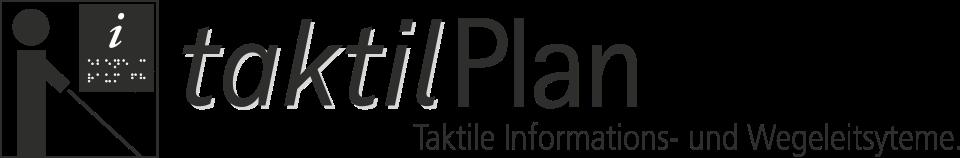 taktilPlan ist unsere Marke für die Planung und Installation von Informations- und Wegeleitsystemen für sehbehinderte und blinde Personen im Innenbereich mittels Braille- und Pyramidenschrift als auch durch Bodenindikatoren nach DIN 32976 und DIN 32984. Grafik: InForm, taktilPlan: Taktile Informationssysteme & Wegeleitsysteme